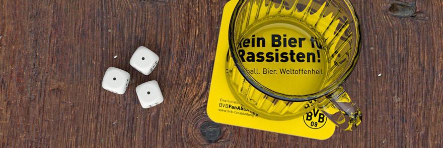 Kein Bier für Rassisten – Das Torino unterstützt BVB-Aktion
